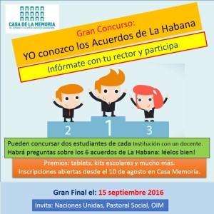 Afiche concurso acuerdos La Habana